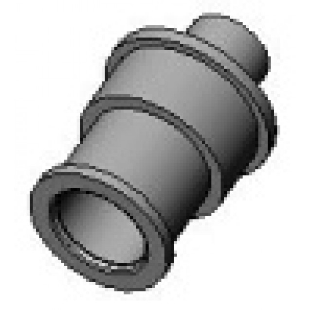 Socket nozzle with fixing nut
